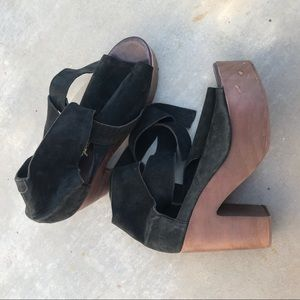 Free People Black Wooden Platform Touch the sky